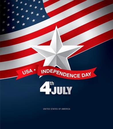 独立記念日 4 th 7 月。ハッピー独立記念日  イラスト・ベクター素材
