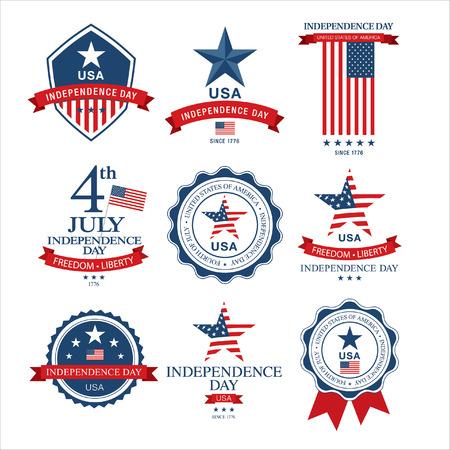 Día de la Independencia 4 de julio. Feliz día de la independencia