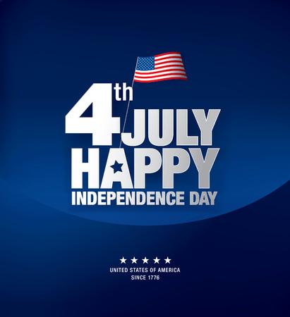 indépendance jour 4ème juillet. Joyeux Jour de l'Indépendance Vecteurs
