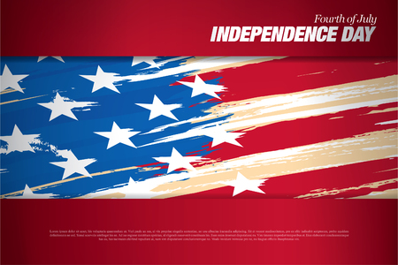 fourth of july: fourth of july. Happy independence day Illustration