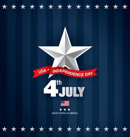 独立記念日の 7 月 4 日  イラスト・ベクター素材