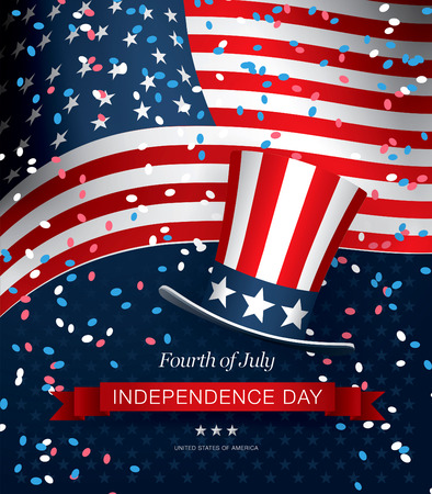 fourth of july: independence day fourth of july Illustration