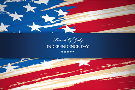 independence day fourth of july Stock Illustratie