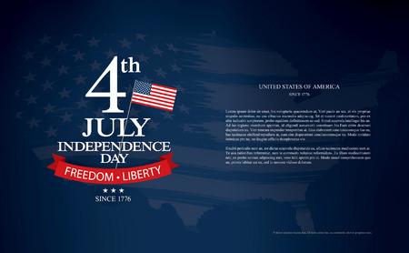 7 월 독립 기념일의 네번째 일러스트