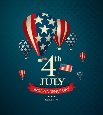 aeronautics: independence day fourth of july Illustration