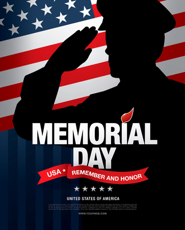 recordar: Memorial Day. Recordar y honor. ilustraci�n vectorial