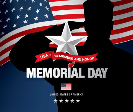 honour: Memorial day. Remember and honor. Vector illustration