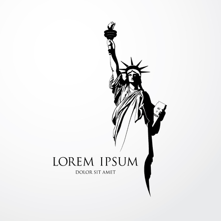 The Statue of Liberty. Vector illustration 向量圖像