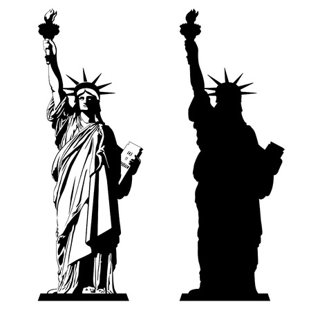 The Statue of Liberty. Vector illustration Stock Illustratie