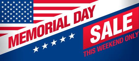 Día de la venta Memorial diseño de la plantilla de banner Foto de archivo - 56323284