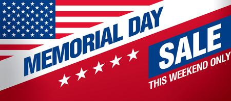 Memorial-Day-Verkauf-Banner-Vorlage Design Standard-Bild - 56323423