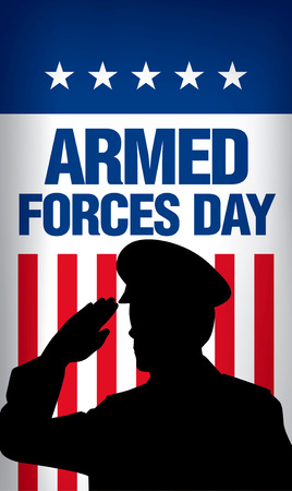 forces: Armed forces day template poster design