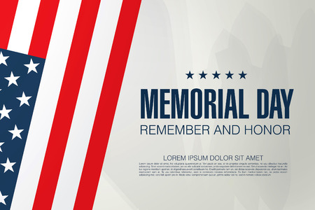 Memorial Day. Rappelez-vous et de l'honneur. Vector illustration