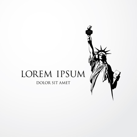staying: The Statue of Liberty. Vector illustration Illustration