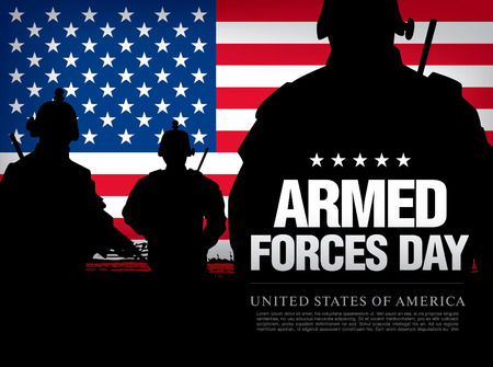 Armed forces day template poster design