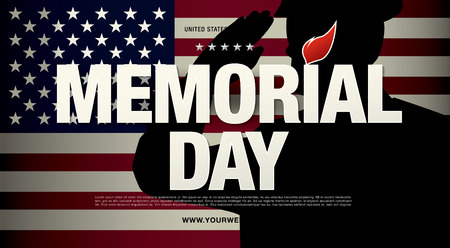 remember: Memorial day. Remember and honor. Vector illustration