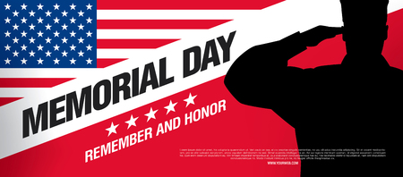honor: Memorial day. Remember and honor. Vector illustration