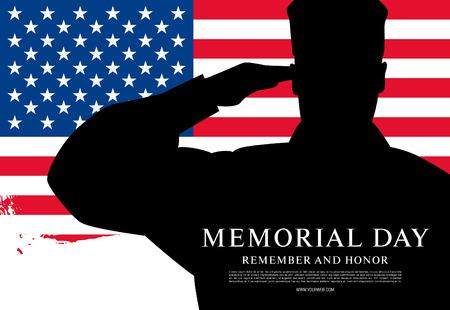 Memorial Day. Rappelez-vous et de l'honneur. Vector illustration Banque d'images - 56323656