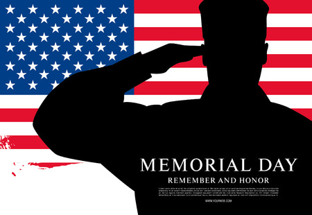 Memorial day. Remember and honor. Vector illustration Фото со стока - 56323656