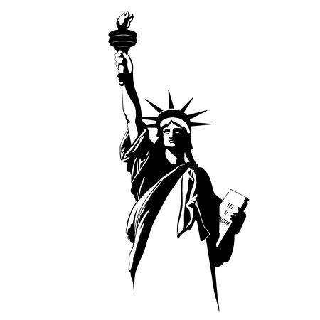 Die Freiheitsstatue. Vektor-Illustration