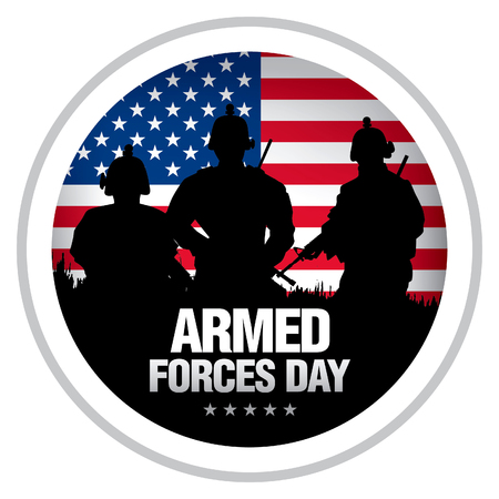 Armed forces day template badge