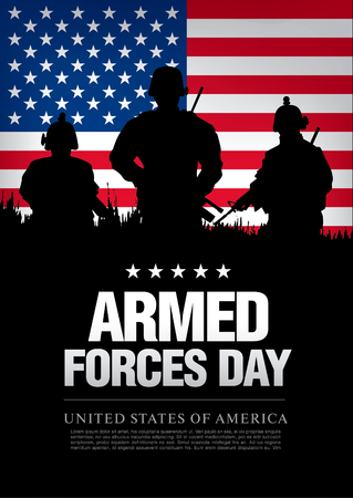 armed: Armed forces day template poster design