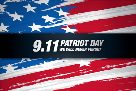 Patriot Day. September 11. We will never forget 일러스트