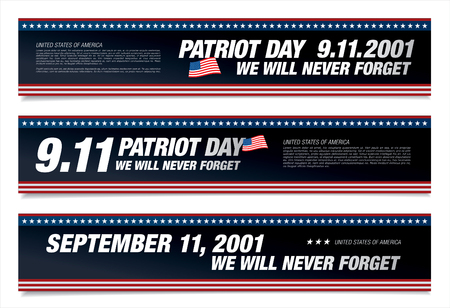patriots: Patriot Day. September 11. We will never forget Illustration