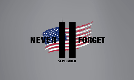Patriot Day. September 11. We will never forget 向量圖像