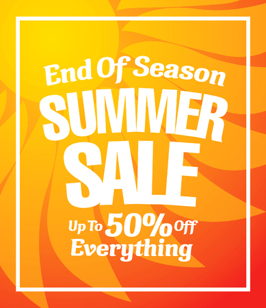hot summer: summer sale banner