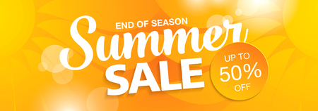 Summer sale banner Banque d'images - 56324577