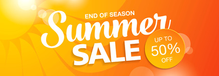 sale icon: summer sale banner