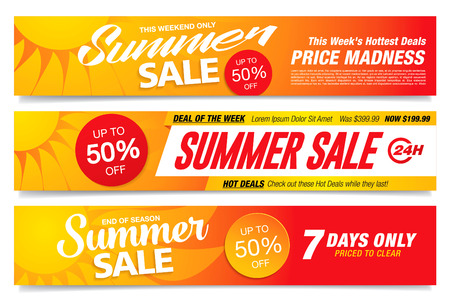 summer sale banners set