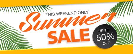 zomer te koop template banner Stock Illustratie