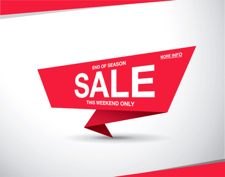 sale tag template design