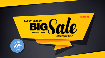 sale banner template design Illustration