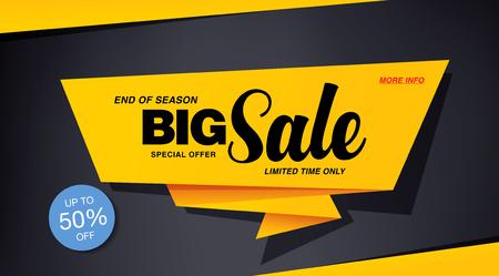 sale banner template design Illustration