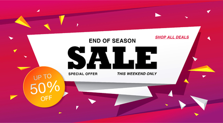 sale banner template design 일러스트