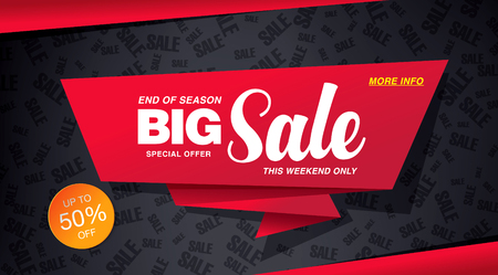 sale banner template design Stock Illustratie