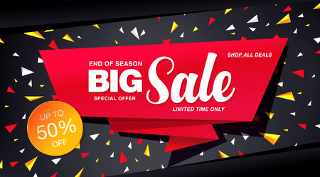winter sales: sale banner template design Illustration