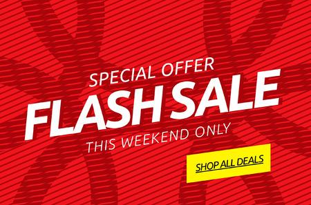 stiker: Flash sale. Vector banner Illustration