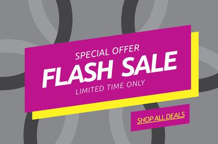 flashes: Flash sale. Vector banner Illustration