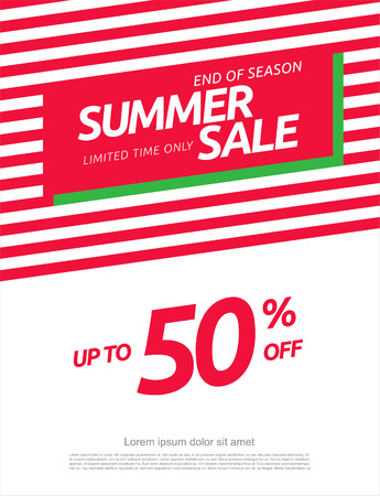 Summer sale. Vector banner