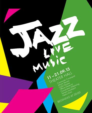Festival de jazz - musique live. Conception de modèle d'affiche Banque d'images - 56433605
