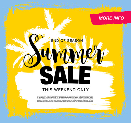 summer sale template banner Stock Illustratie