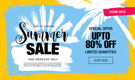 summer sale template banner Çizim