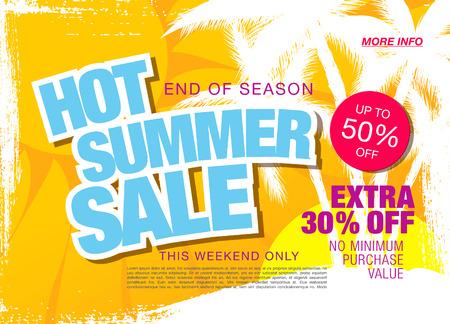 tally: hot summer sale template banner