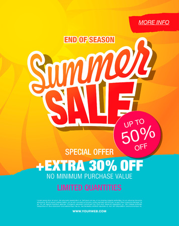summer sale template banner Illustration