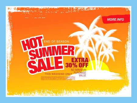 hot summer: hot summer sale template banner