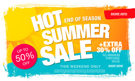 hot summer sale template banner